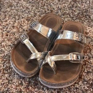 Silver sandals!